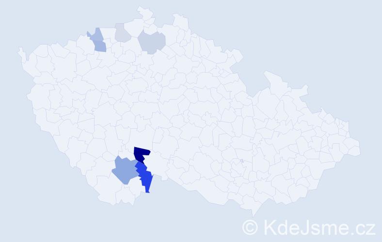 Příjmení: 'Ingvortová', počet výskytů 17 v celé ČR