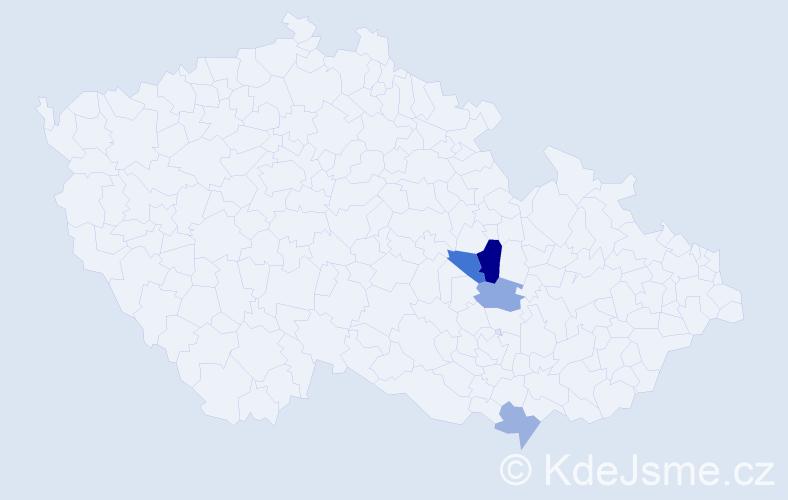 Příjmení: 'Elsinger', počet výskytů 6 v celé ČR