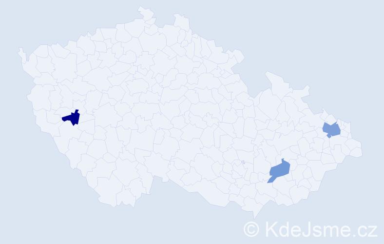 Příjmení: 'Bazso', počet výskytů 9 v celé ČR