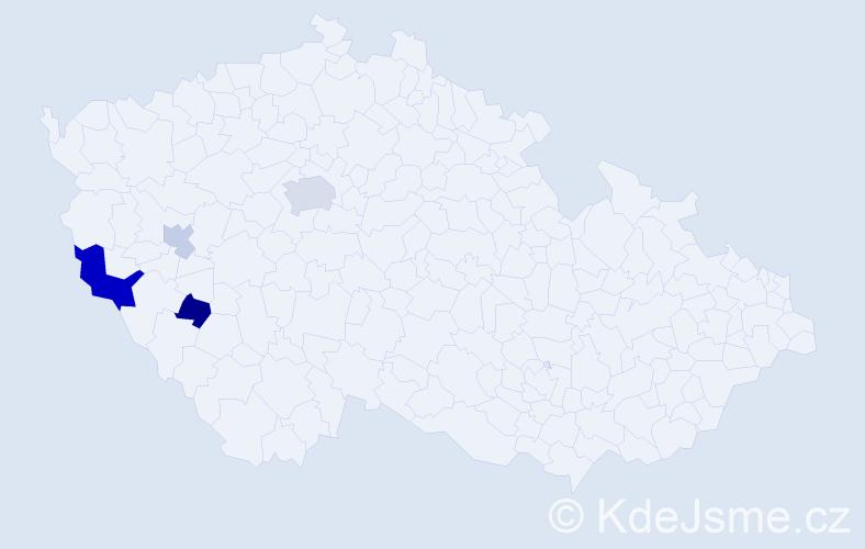 Příjmení: 'Groeszel', počet výskytů 8 v celé ČR