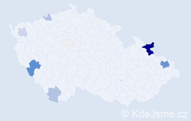 Příjmení: 'Ham', počet výskytů 30 v celé ČR