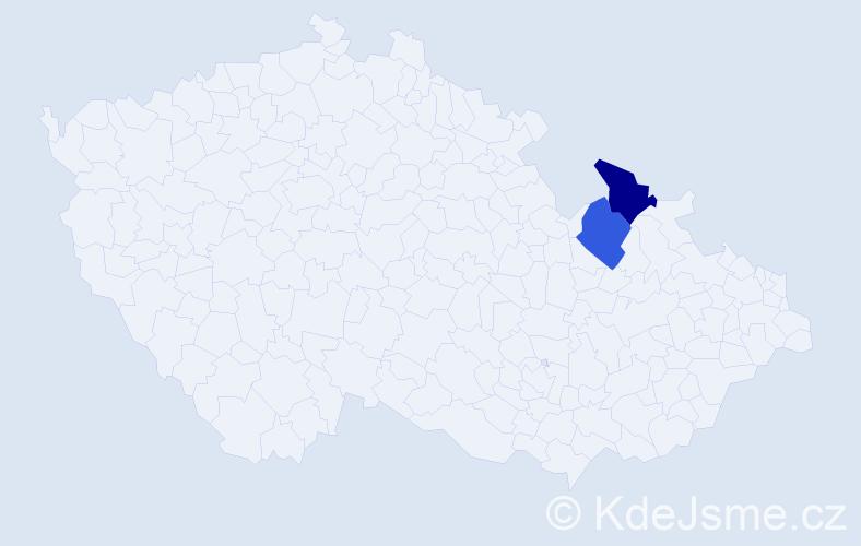 Příjmení: 'Iliosová', počet výskytů 2 v celé ČR