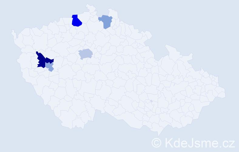Příjmení: 'Ebermann', počet výskytů 10 v celé ČR