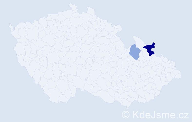 Příjmení: 'Divitaris', počet výskytů 4 v celé ČR
