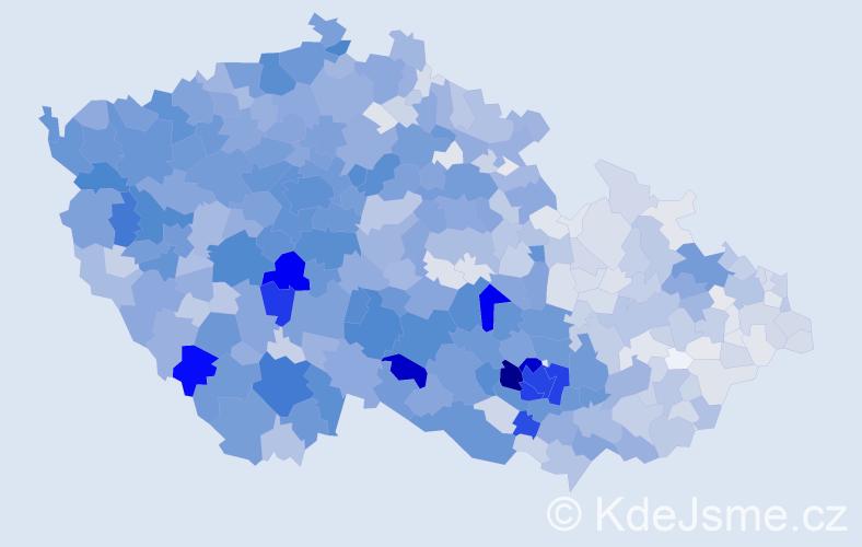 Příjmení: 'Křížová', počet výskytů 7422 v celé ČR