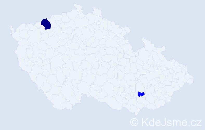 Příjmení: 'Gärberová', počet výskytů 7 v celé ČR