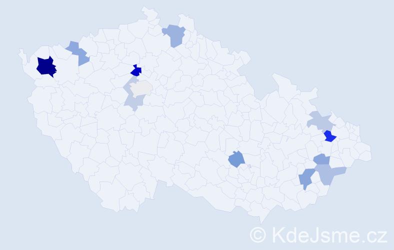 Příjmení: 'Batka', počet výskytů 24 v celé ČR
