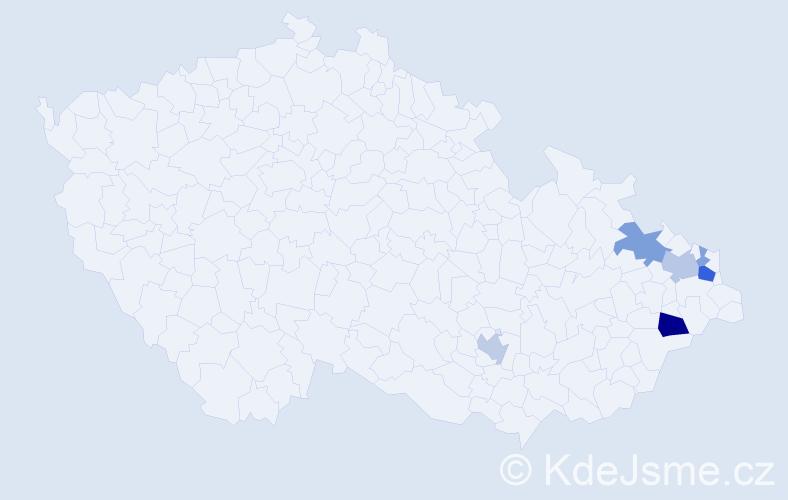 Příjmení: 'Kulpa', počet výskytů 14 v celé ČR