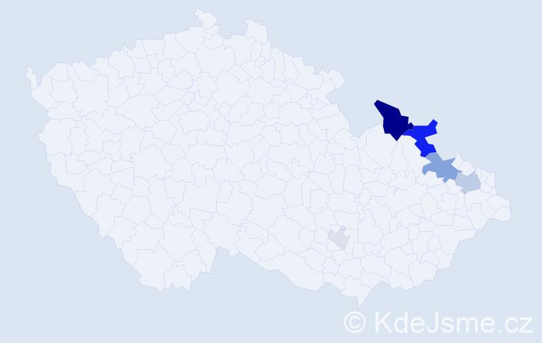Příjmení: 'Grigoriadisová', počet výskytů 12 v celé ČR