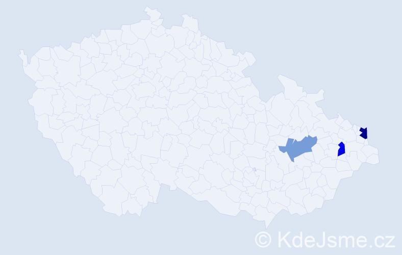 Příjmení: 'Indyková', počet výskytů 4 v celé ČR