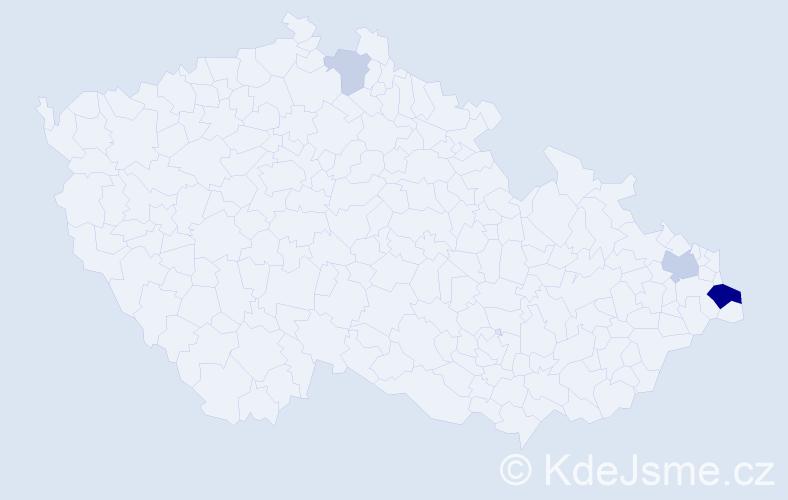 Příjmení: 'Banaś', počet výskytů 9 v celé ČR