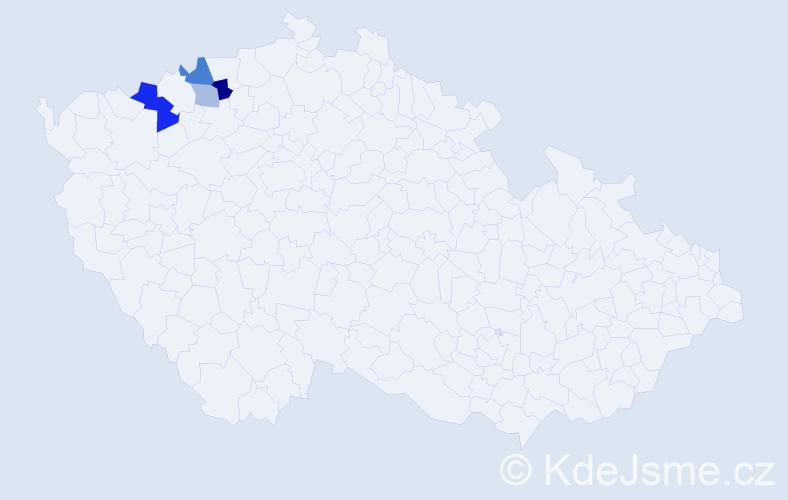 Příjmení: 'Lausmannová', počet výskytů 8 v celé ČR