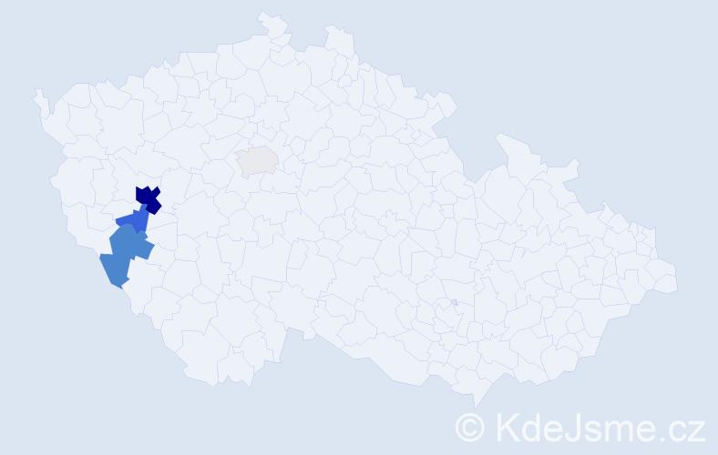 Příjmení: 'Julius', počet výskytů 14 v celé ČR