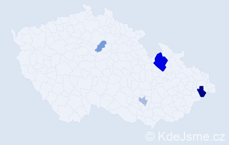 Příjmení: 'Gattyánová', počet výskytů 11 v celé ČR
