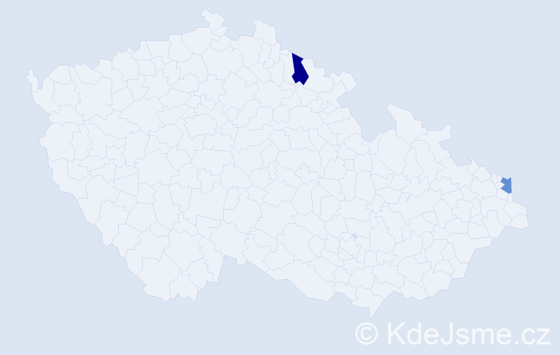 Příjmení: 'Gozzi', počet výskytů 2 v celé ČR