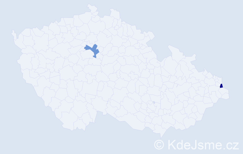 Příjmení: 'Jaskulski', počet výskytů 2 v celé ČR