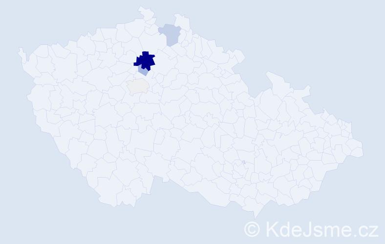 Příjmení: 'Haselbachová', počet výskytů 13 v celé ČR