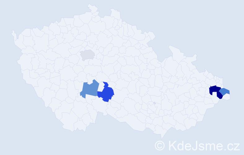 Příjmení: 'Legorský', počet výskytů 7 v celé ČR