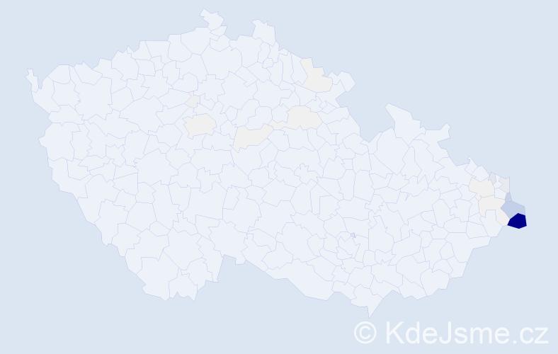 Příjmení: 'Ćmiel', počet výskytů 152 v celé ČR