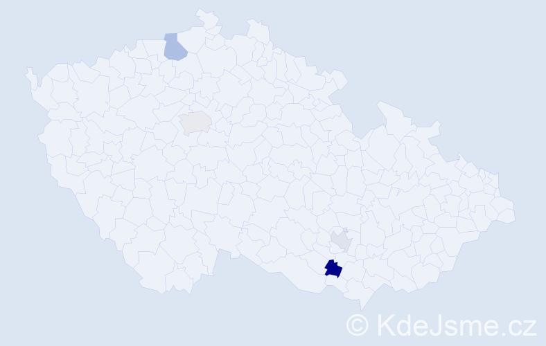 Příjmení: 'Bechtoldová', počet výskytů 11 v celé ČR