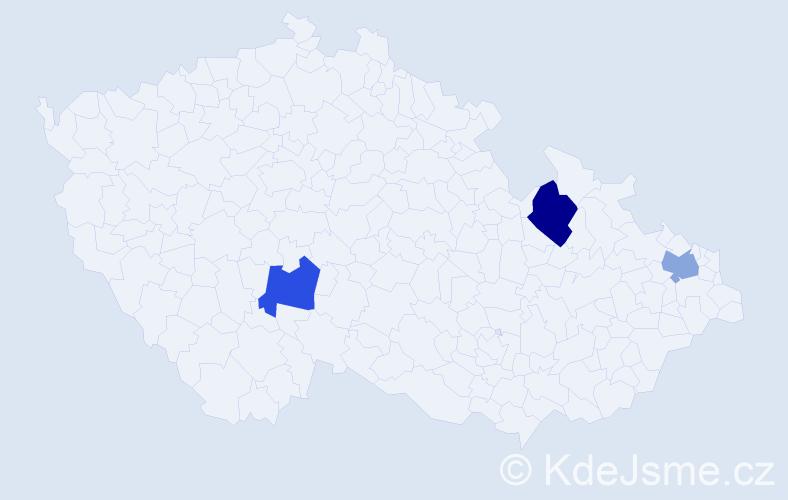 Příjmení: 'Bošňáková', počet výskytů 7 v celé ČR