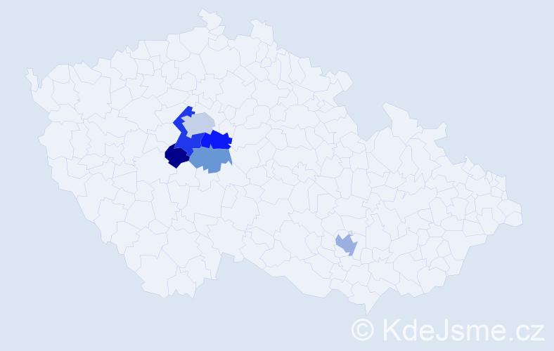 Příjmení: 'Erbeková', počet výskytů 12 v celé ČR