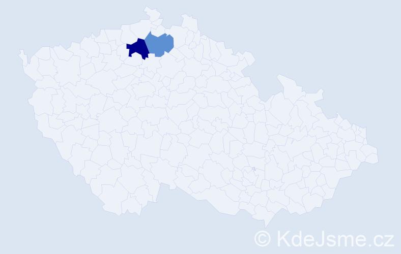 Příjmení: 'Halina', počet výskytů 3 v celé ČR