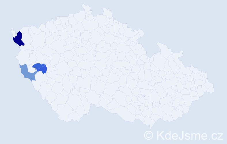 Příjmení: 'Kabaluková', počet výskytů 14 v celé ČR