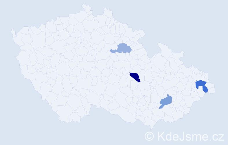 Příjmení: 'Fejkus', počet výskytů 11 v celé ČR