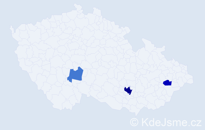 Příjmení: 'Engelsmannová', počet výskytů 8 v celé ČR