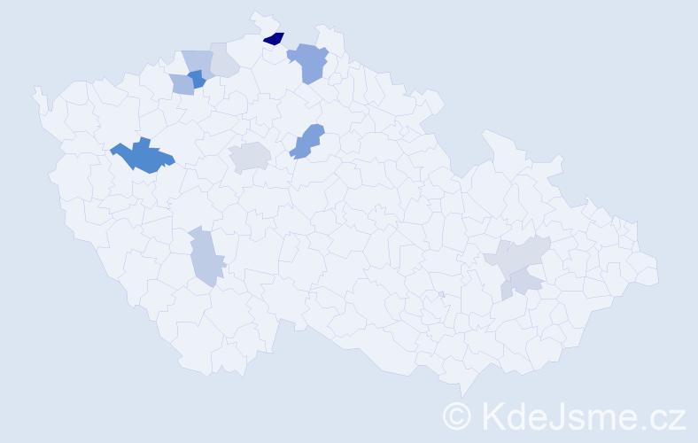 Příjmení: 'Fedurco', počet výskytů 28 v celé ČR