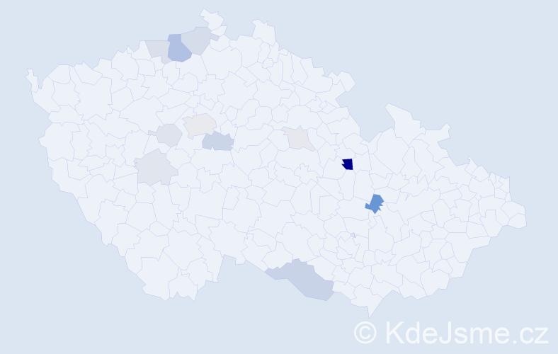 Příjmení: 'Drvoštěp', počet výskytů 34 v celé ČR