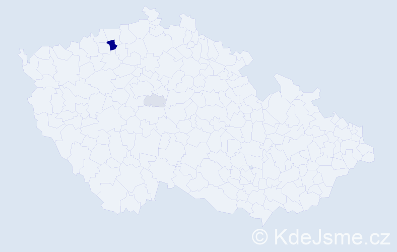 Příjmení: 'Haišová', počet výskytů 10 v celé ČR