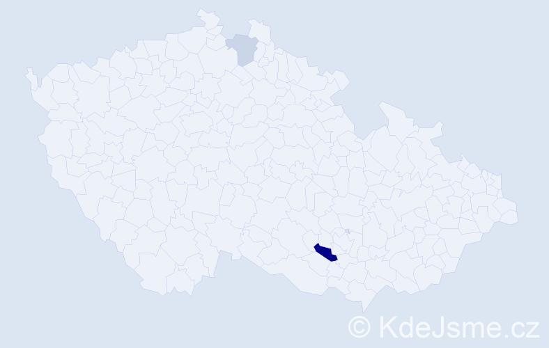 Příjmení: 'Gádóczi', počet výskytů 4 v celé ČR
