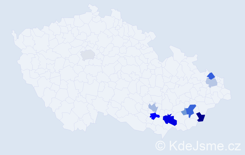 Příjmení: 'Drobilík', počet výskytů 22 v celé ČR