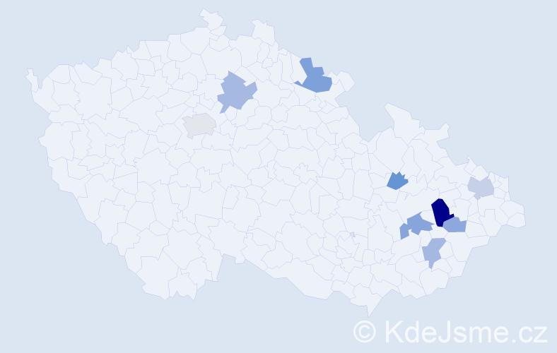 Příjmení: 'Číhala', počet výskytů 34 v celé ČR