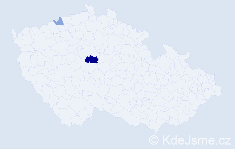 Příjmení: 'Ericsson', počet výskytů 7 v celé ČR
