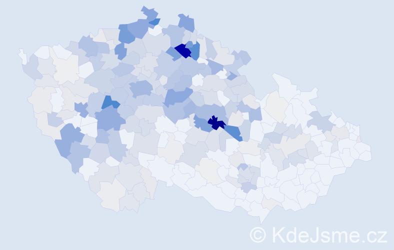 Příjmení: 'Hejduk', počet výskytů 1014 v celé ČR
