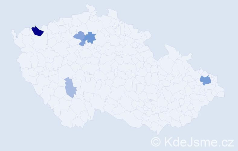 Příjmení: 'Lapin', počet výskytů 17 v celé ČR