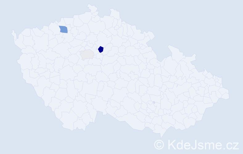 Příjmení: 'Kojićová', počet výskytů 5 v celé ČR