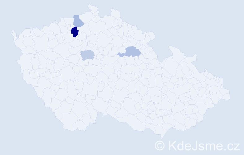 Příjmení: 'Čičovská', počet výskytů 9 v celé ČR
