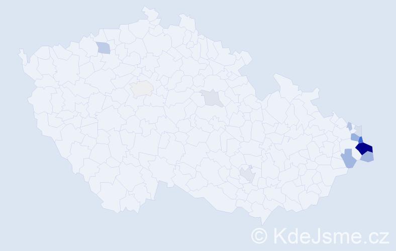 Příjmení: 'Kisiala', počet výskytů 33 v celé ČR