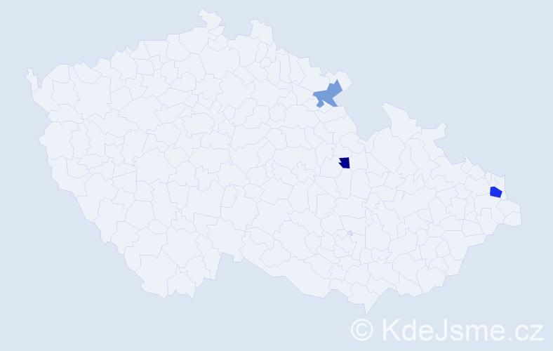 Příjmení: 'Goluška', počet výskytů 5 v celé ČR