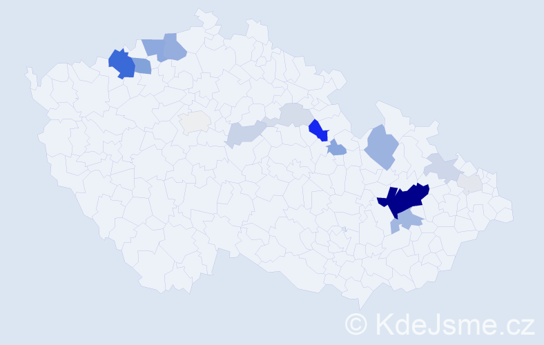 Příjmení: 'Brzokoupil', počet výskytů 48 v celé ČR