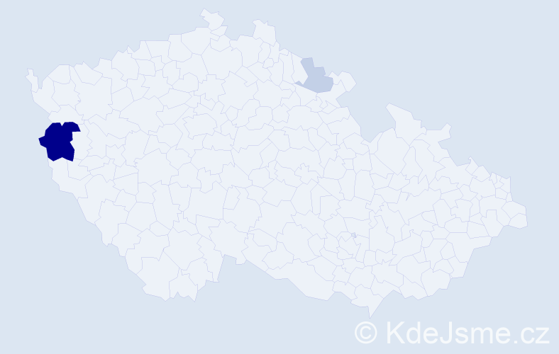 Příjmení: 'Čikel', počet výskytů 7 v celé ČR