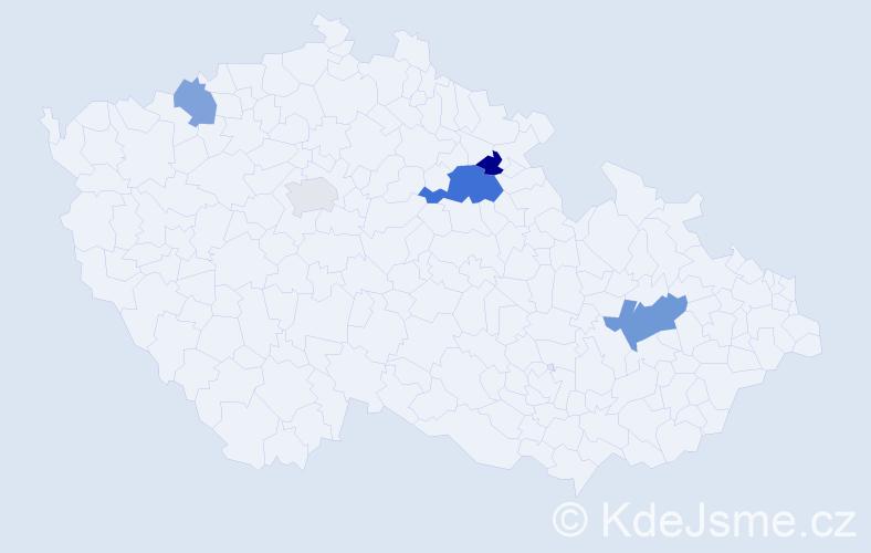 Příjmení: 'Černilovský', počet výskytů 8 v celé ČR