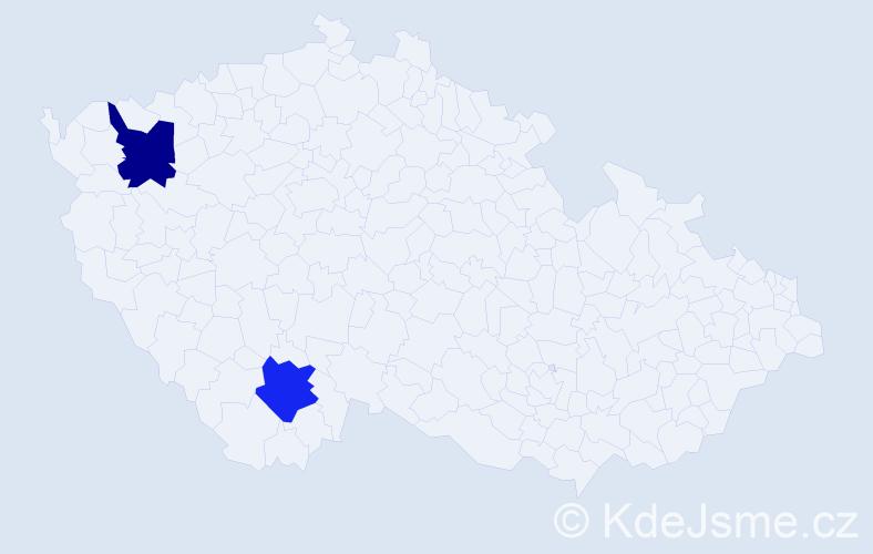 Příjmení: 'Bartelsenová', počet výskytů 4 v celé ČR