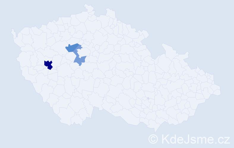 Příjmení: 'Egrmaierová', počet výskytů 14 v celé ČR