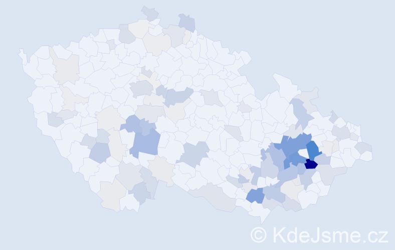 Příjmení: 'Kobliha', počet výskytů 400 v celé ČR