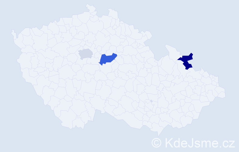 Příjmení: 'Čarasová', počet výskytů 3 v celé ČR